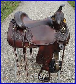 16 CIRCLE Y Flex Tree Park & Trail Western Horse Saddle Beautiful Shape