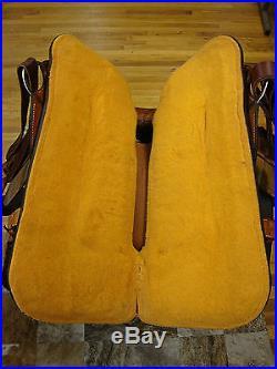 16 CIRCLE Y HARD SEAT WESTERN ROPING/ RANCH SADDLE