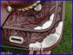 16 CONGRESS LEATHER Western Pleasure Show Horse Saddle Very Pretty