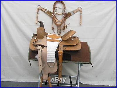16 Circle S Western Roping Saddle 7 Piece Package