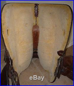 16 Circle Y Equitation Show Trail Western Saddle with Silver Dark Oil