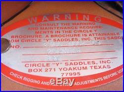 16 Circle Y Flex Trail Western Saddle Lightly Used