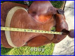 16 Circle Y Roping Saddle -All Round, Western Tooling, Good Saddle