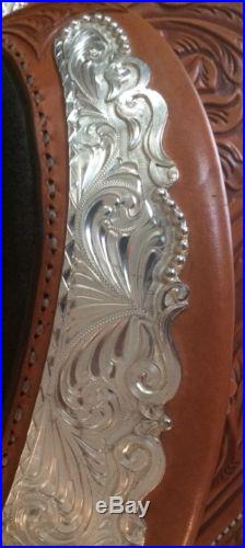 16 Circle Y Show Saddle LOADED in silver