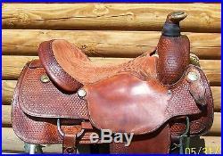 16 Genuine Billy Cook Western Roping Saddle Sulphur OK also good