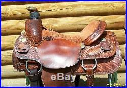 16 Genuine Billy Cook Western Roping Saddle Sulphur OK also good Pleasure Trail