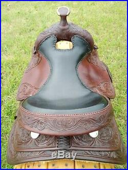 16 Longhorn Reining Saddle Custom Made in Texas