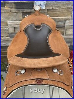 16 Royal King Western Training Saddle Roughout Leather Veri Flex Tree