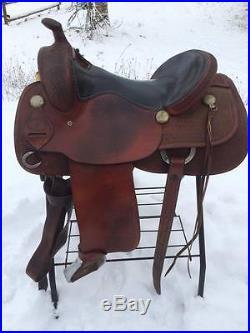 16 SQHB Vinton Saddlery Reining, Cowhorse, Sorting, Penning Saddle
