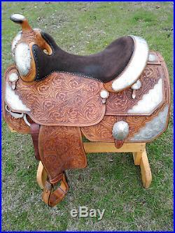 16 Silver Mesa Show Saddle Made in Texas