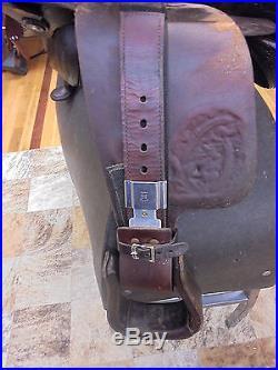 16 Tex-tan Brahma Brand Western Pleasure/ Trail Saddle