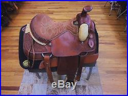 16 Tex-tan Hereford Brand Western Ranch/ Roping Saddle