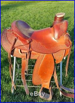 16 Tex Tan Hereford Wade Tree Ranch Saddle