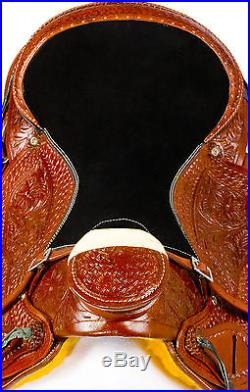 16 WESTERN RANCH ROPING ROPER HIGH BACK WADE COWBOY WESTERN LEATHER HORSE SADDLE