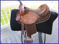 16 Western Saddle King Of Texas Western Saddle Qhb 1358 Leather