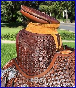 16 Wade Roping/Ranch/Trail Saddle with Guadalajara horn- IN STOCK! (Buckaroo)