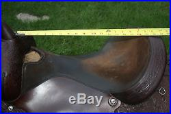 17 Circle Y Park and Trail Western Saddle Floral Tooled
