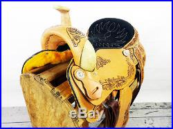 17 HEAVY DUTY WESTERN HORSE RAWHIDE ROPING RANCH WADE COWBOY LEATHER SADDLE