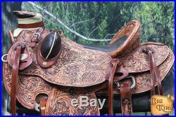 17 HILASON BIG KING WESTERN WADE RANCH ROPING COWBOY TRAIL HORSE SADDLE