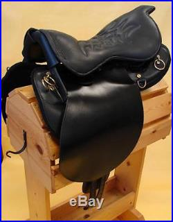 18 Special Trooper Saddle BLACK Gaited Endurance Trail Smooth leather Just In