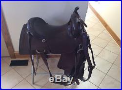 2 X Sean Ryon Saddle cutting saddle 16.5'' and 18 Sean Ryon saddle