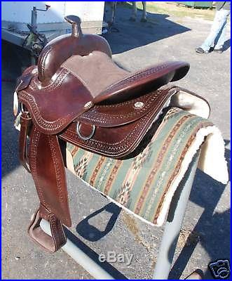 4024 New 17brown draft horse western saddle 10 gullet by Frontier -THE BEST