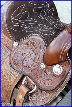 8 Brown Western Saddle Leather Miniature Trail Saddle Mini Horse