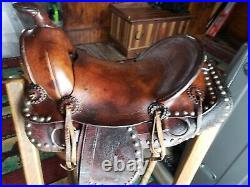 Antique Western Dots Pony Miniature Horse Saddle, Rare Find