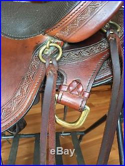 BEAUTIFUL Big Horn 16 Voyager with Sil Cush Western Saddle FQHB