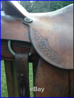 BEAUTIFUL Vintage Slick Fork Roping Saddle / Western Saddle