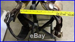 BILLY COOK 15 IN. BARREL RACING ALL ROUND PLEASURE SADDLE NICE USED! NO RESERVE