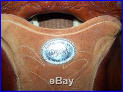 BILLY COOK ORIGINAL GREENVILLE TX. MAKER BARREL RACING SADDLE 13.5 14 NR NICE