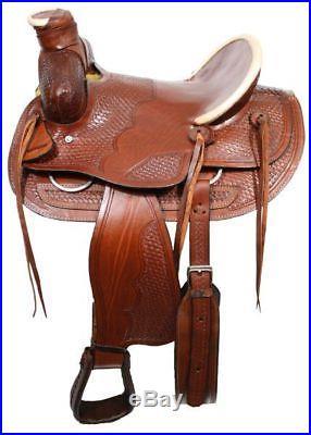 BUFFALO SADDLES WESTERN ROPING WADE RANCH WORK HORSE SADDLE 16