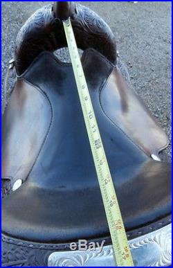 Beautiful Circle Y Saddle 16 in. Bronze Silver Corner Plates Horse Show Saddle