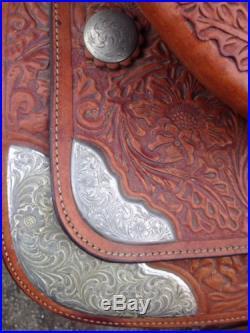 Beautiful Circle Y Western Saddle 15, Cinch Girth 30, Yoakum Texas, Equitation