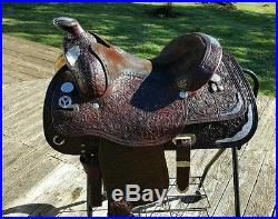 Beautiful Richard Shrake Circle Y Western Show Saddle 15.5