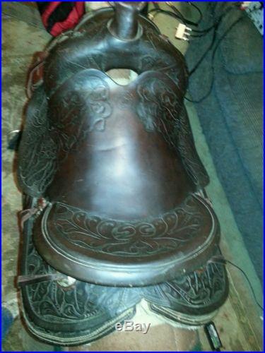 Beautiful Vintage Western Champion Leather Saddle 15