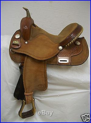 Big Horn Western Barrel Racing Saddle #1563 Used 15 Regular Quarter Horse Bars