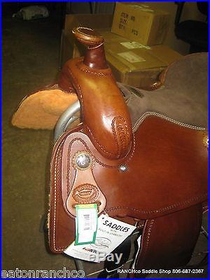 Billy Cook 16 Dark Oil Cowboy Roper Tooled Roping Saddle Reno Roper