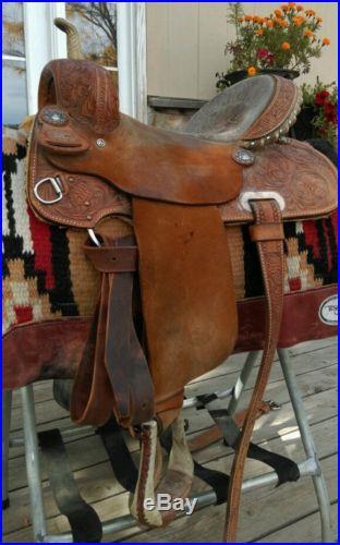 Billy Cook Barrel Saddle Pistol Conchos 14 Seat