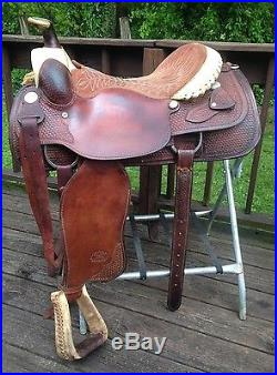 Billy Cook Brand Sulphur OK. Western Roper Roping Saddle 17 Seat