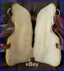 Billy Cook Maker 16 FQHB Western Horse Silver Show Saddle Tooled Leather Nice
