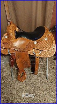 Billy Cook Reining Saddle 16in Excellent Condition Full
