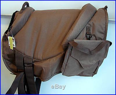 Black/ Brown Adult English Western Bareback Saddle Pad w/stirrups Horse TOUGH 1