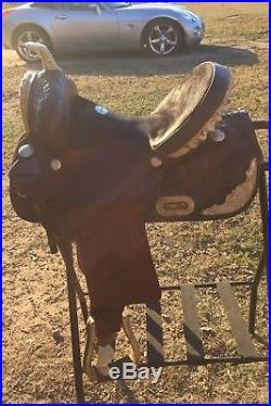 Blue River 14 Handmade Barrel Racing Western Show Saddle