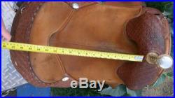 Bob Marshall Treeless Horse Saddle 15 Chestnut Pleasure/Trail