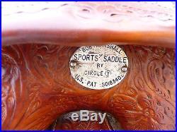 Bob Marshall barrel racing saddle