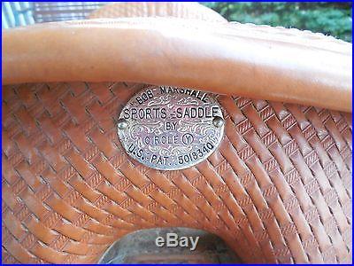 Bob Marshall by Circle Y Treeless barrel racing saddle