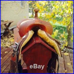 Bob's Custom saddles Al Dunning Reining CowHorse Saddle 16