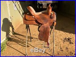Bona Allen Barrel Saddle 14.5 Seat, 7 Gulelt, SQHB